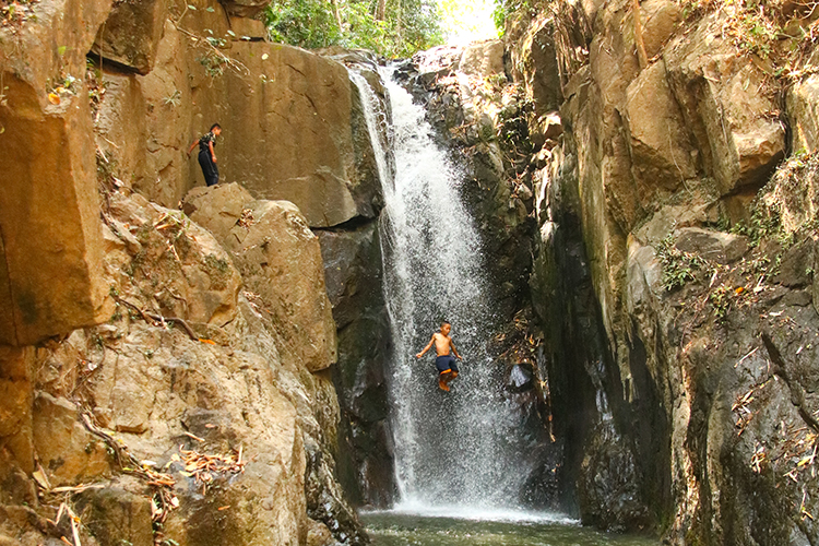 Laotian bathing