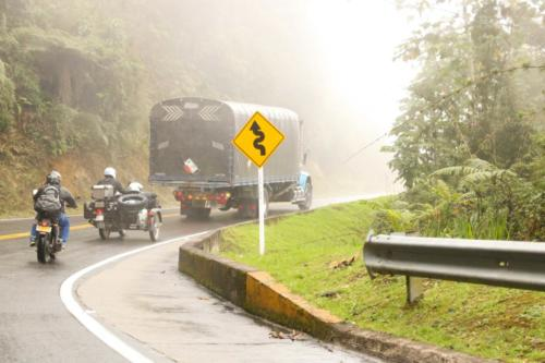 On the Colombian roads