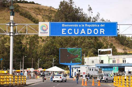 Border crossing in Ipiales-Tulcan